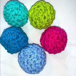 Crocheted Organic Catnip Roly Poly Toys